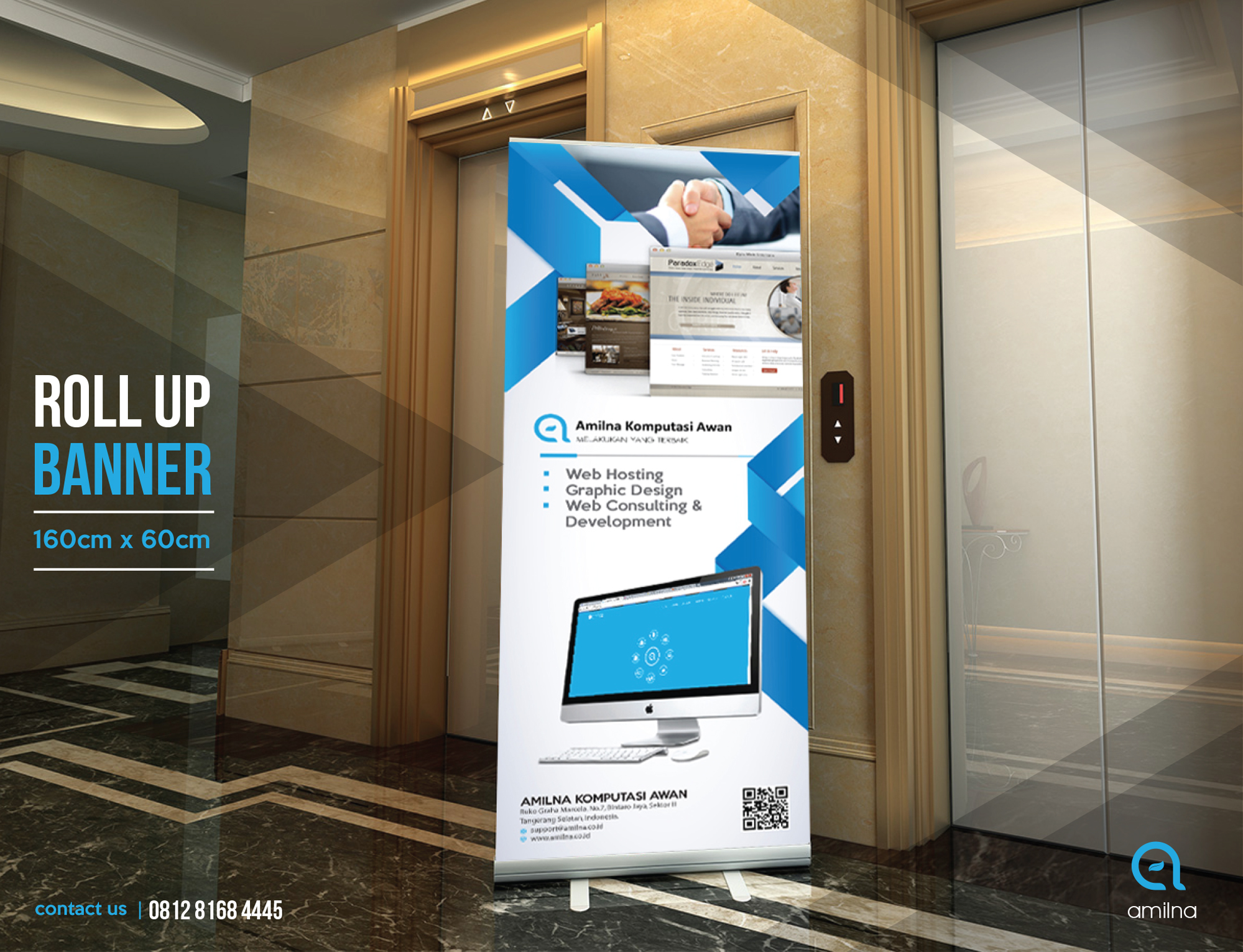 Media Promosi Roll Up Banner